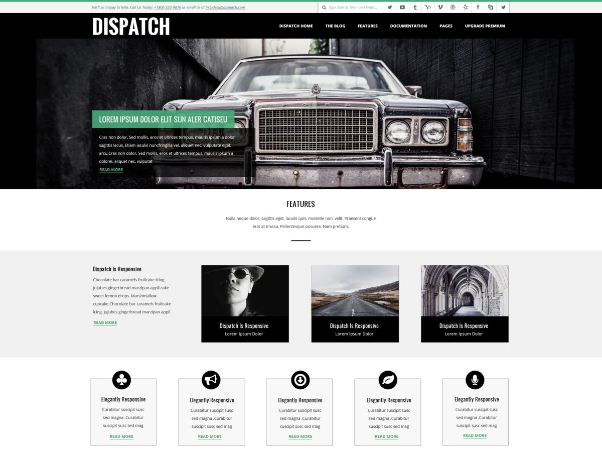 Dispatch free wordpress theme