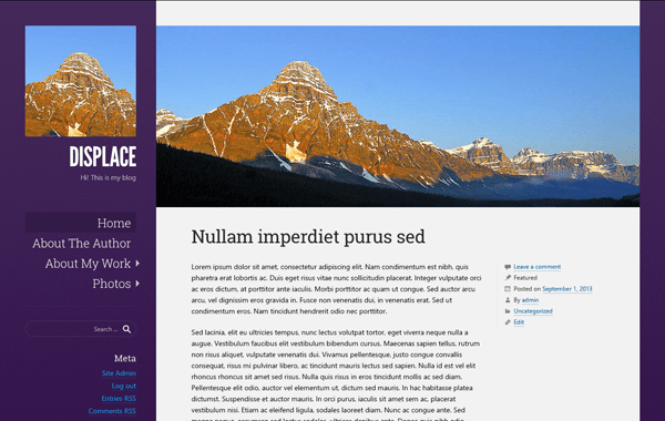 Displace free wordpress theme
