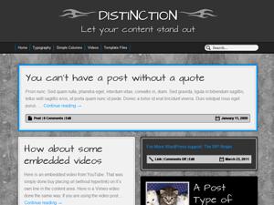Distinction free wordpress theme