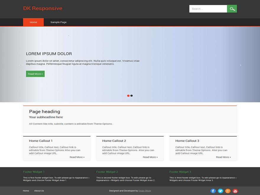 DK Responsive free wordpress theme