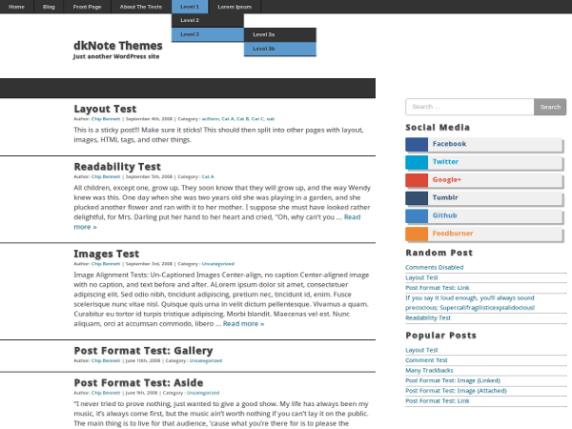 dkNote wordpress theme