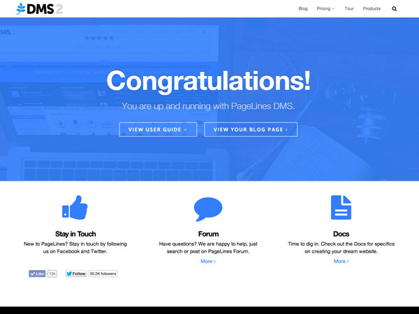 DMS free wordpress theme