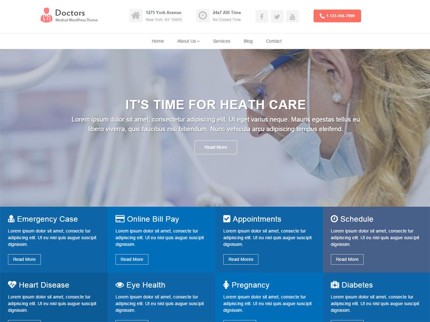 Doctors free wordpress theme
