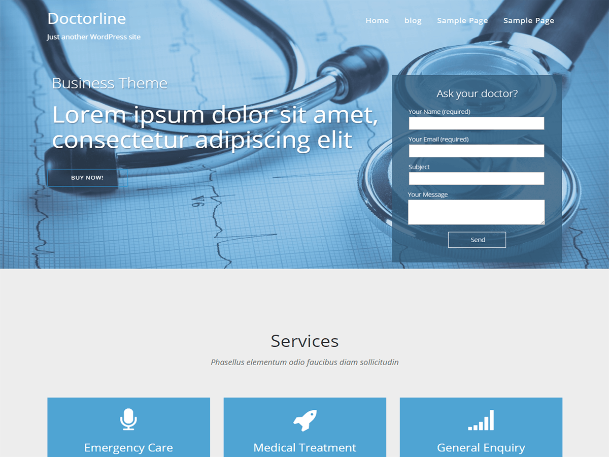 doctorsline free wordpress theme
