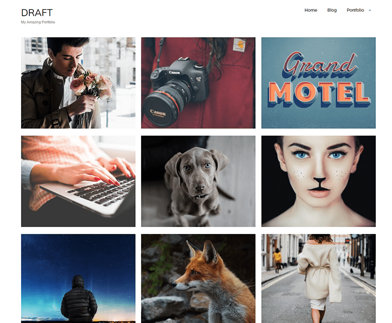 Draft Portfolio Theme Free Download