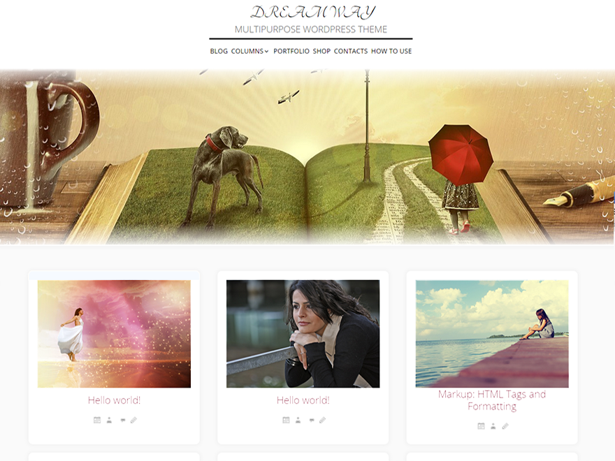 Dream Way free wordpress theme