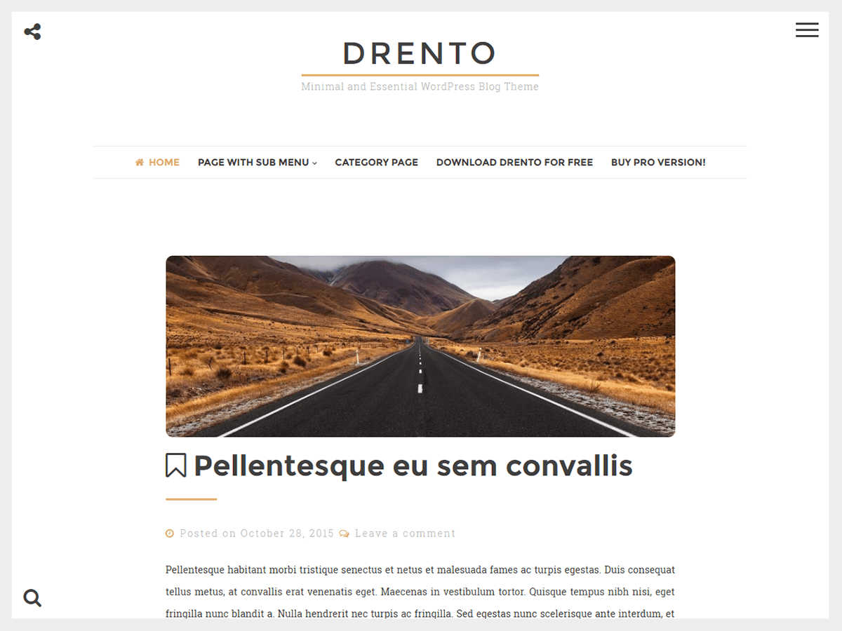Drento free wordpress theme