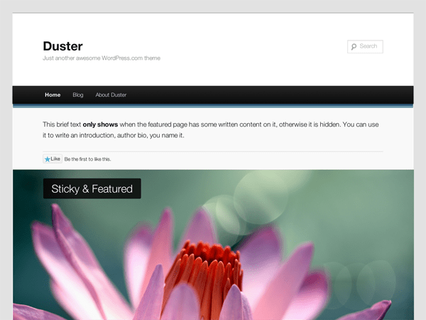 Duster free wordpress theme