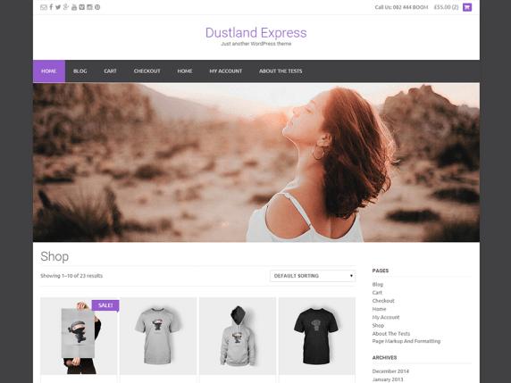 Dustland Express wordpress theme