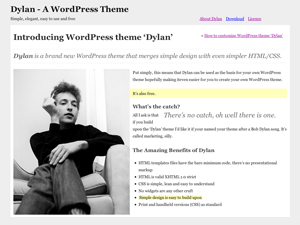Dylan free wordpress theme