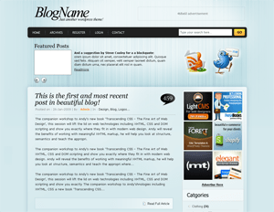 DynaBlue free wordpress theme