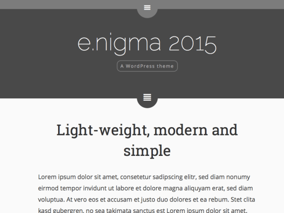 e.nigma 2015 wordpress theme