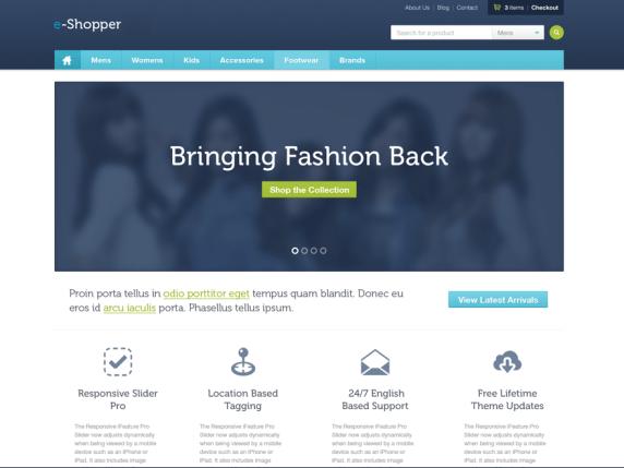 e-Shopper wordpress theme