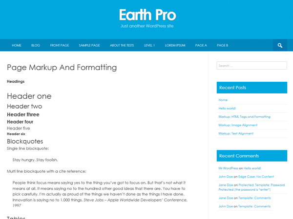 Earth Pro free wordpress theme