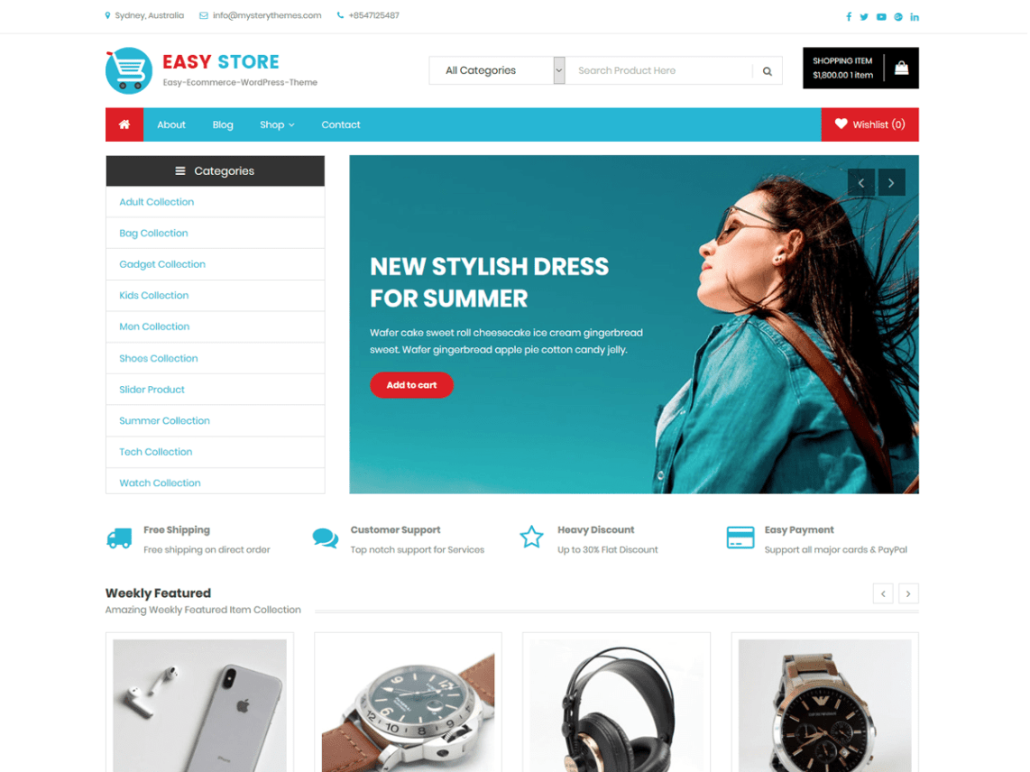 Easy Store Theme Free Download