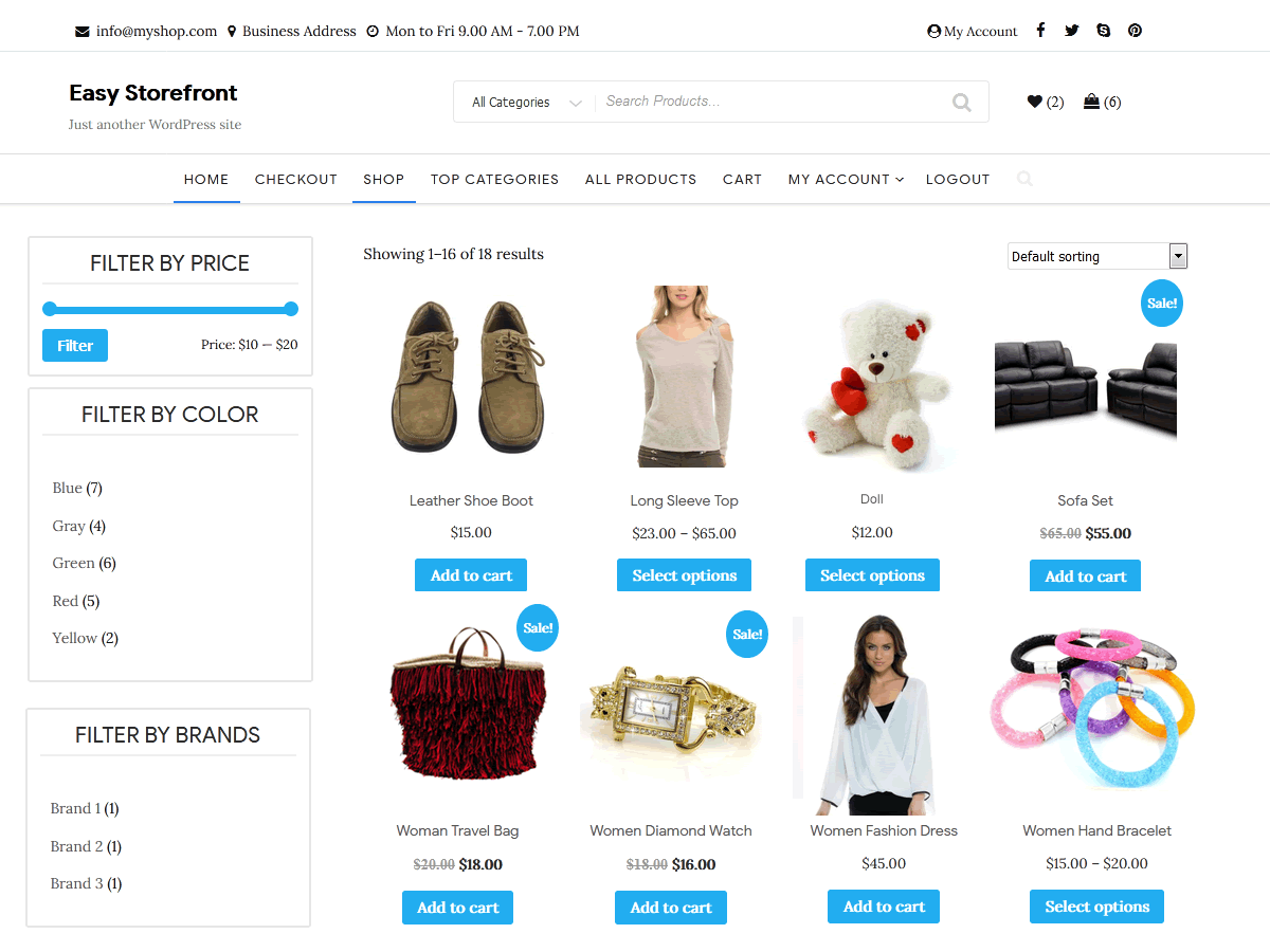 Easy Storefront Wordpress Theme Wordpress Org