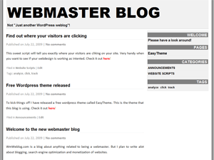 EasyTheme free wordpress theme