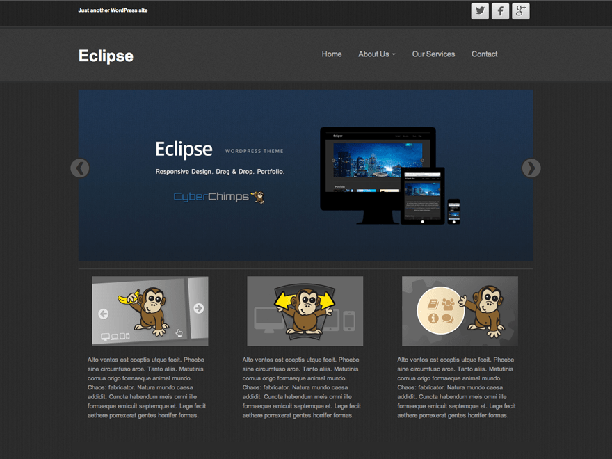 Eclipse free wordpress theme