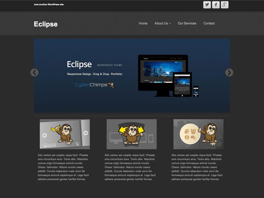 Eclipse free wordpress theme