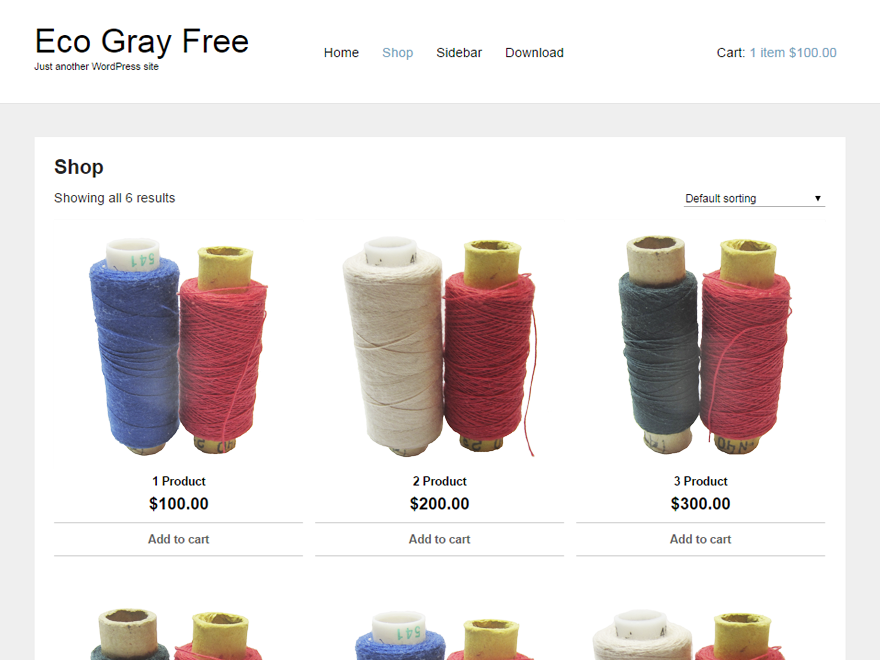 Eco Gray free wordpress theme