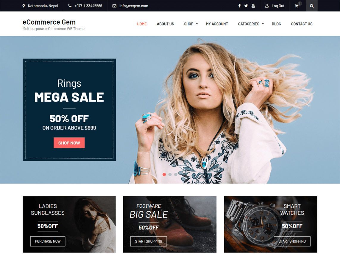 eCommerce Gem Theme Free Download
