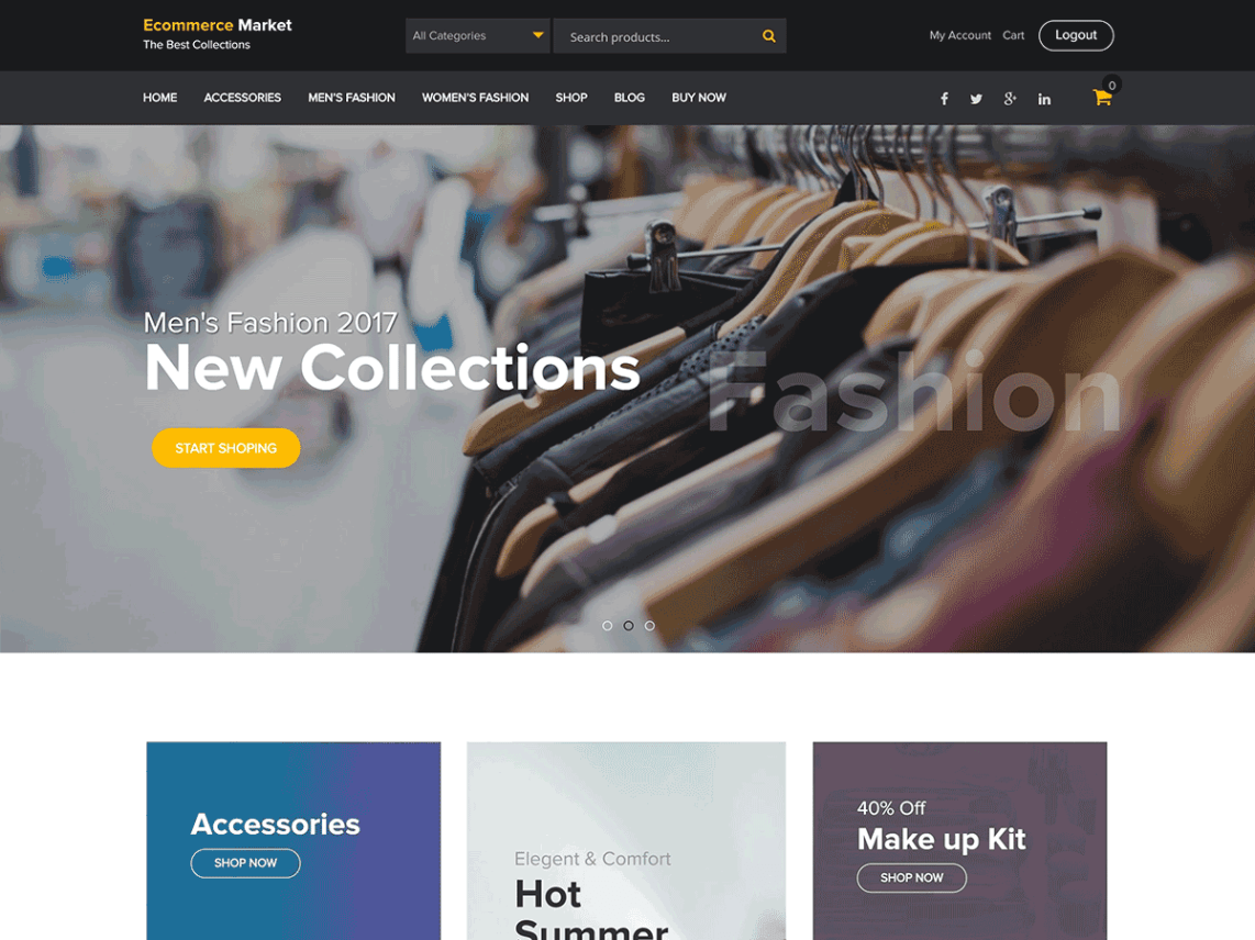 eCommerce Market Theme Free Download