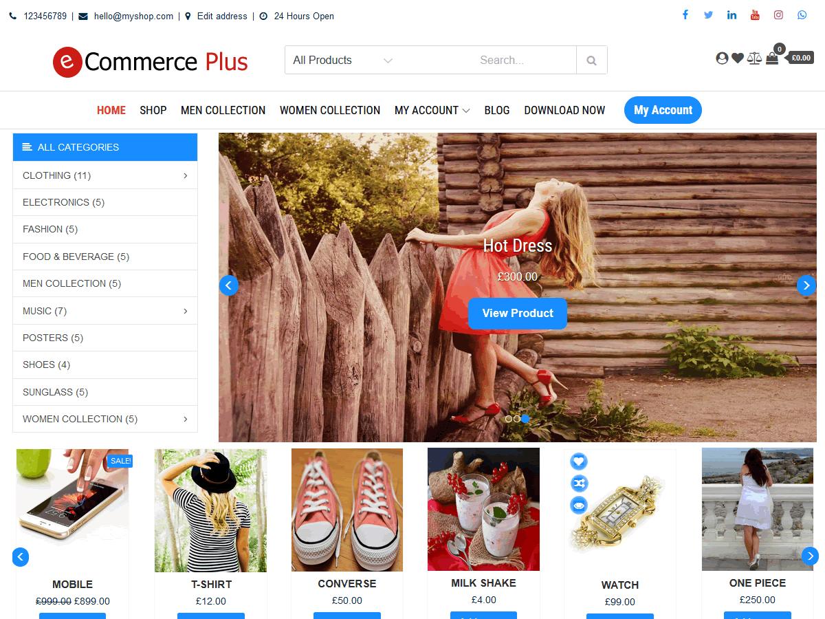 eCommerce Plus WordPress Theme