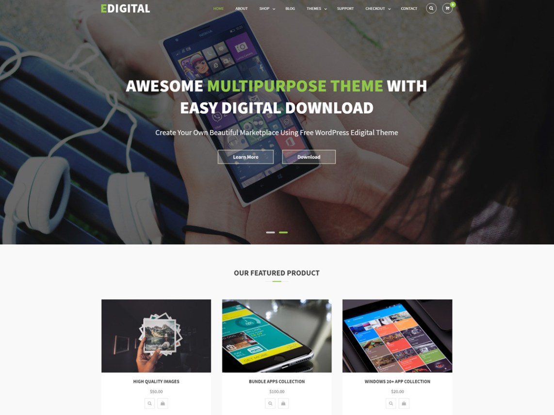 EDigital - WordPress theme | WordPress org