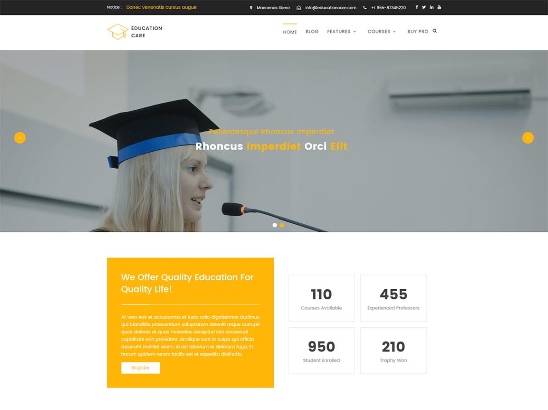 Plantilla para landing page de colegios y universidades