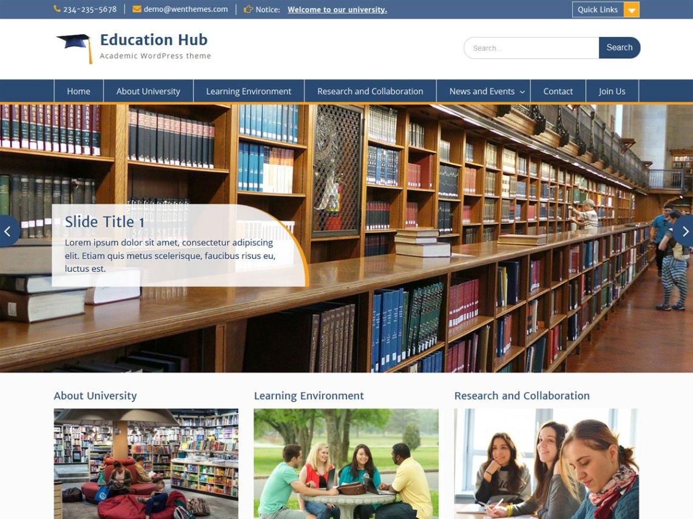 Education Hub — Temas WordPress gratuitos