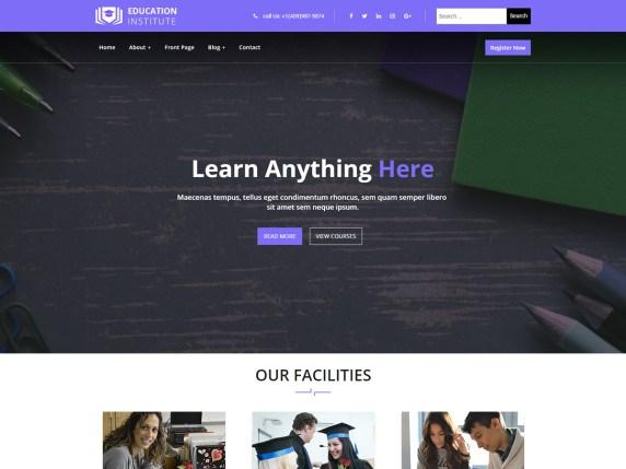 Education Institute WP Theme