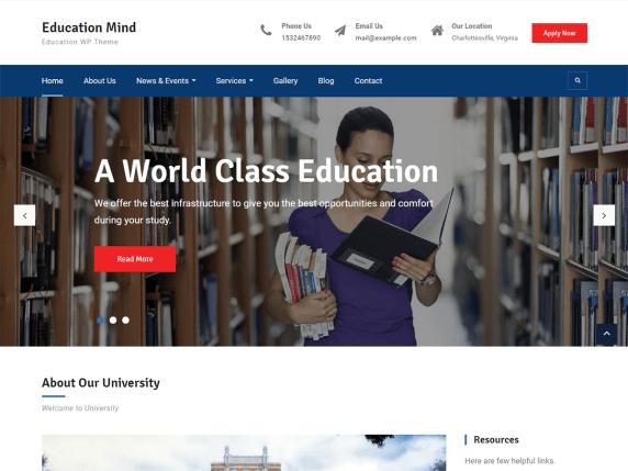 Education Mind WP Theme