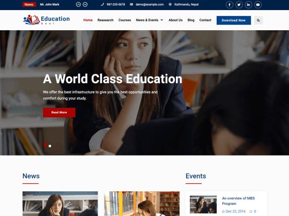 Education Soul Wordpress Theme Wordpress Org