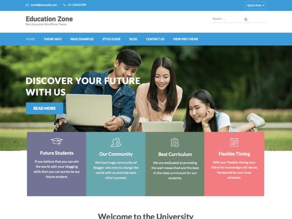 Education Zone - Free WP Theme