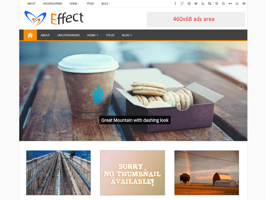 Effect free wordpress theme