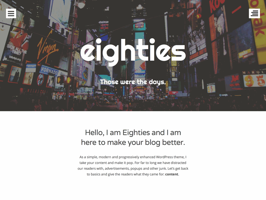 Eighties | WordPress.org