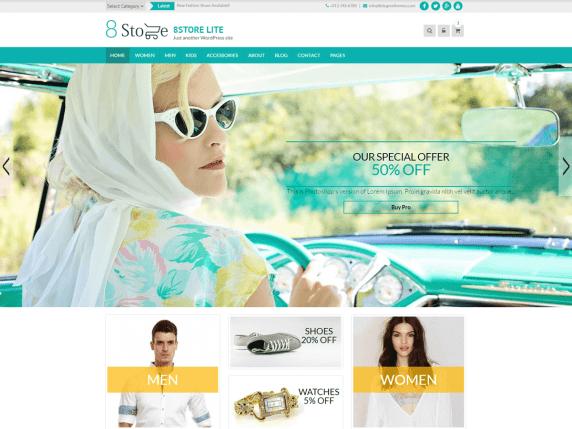 EightStore Lite eCommerce WordPress Theme