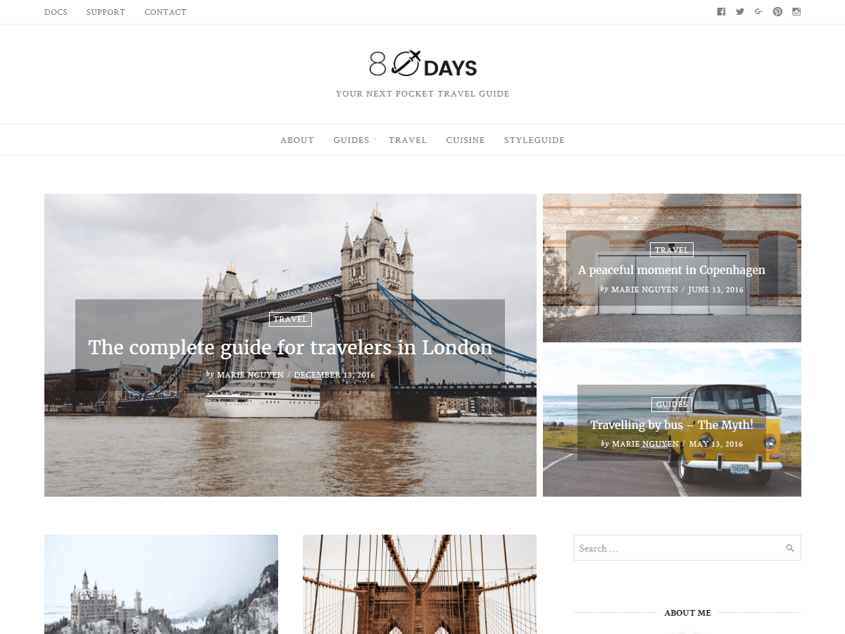 The Minimal - Responsive Grid WordPress Theme