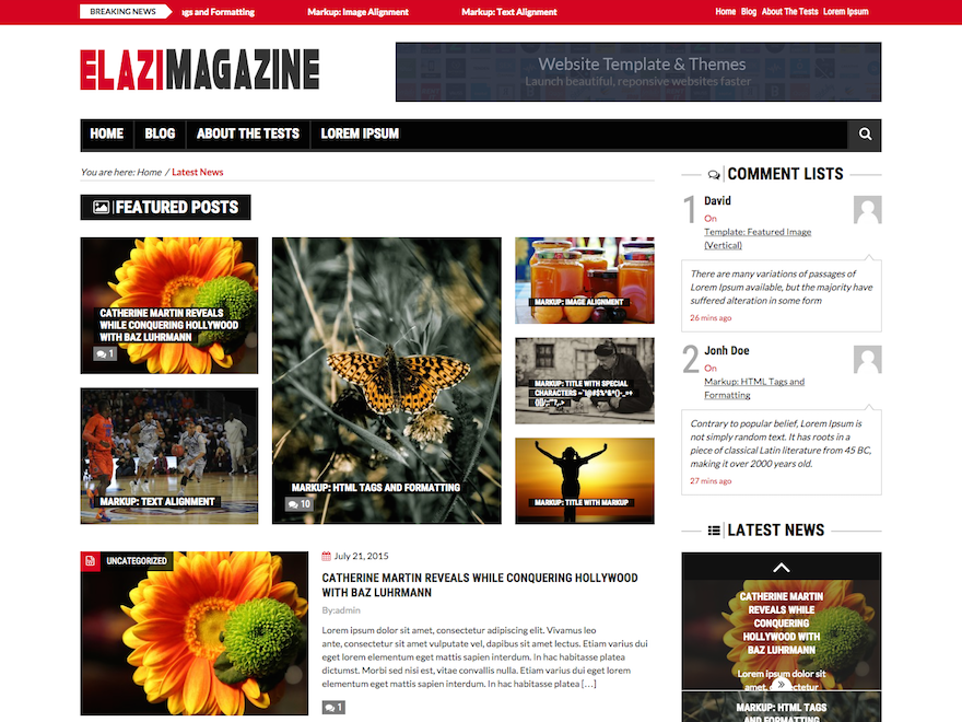 Elazi Lite free wordpress theme