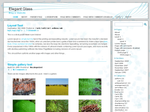 Elegant Glass free wordpress theme