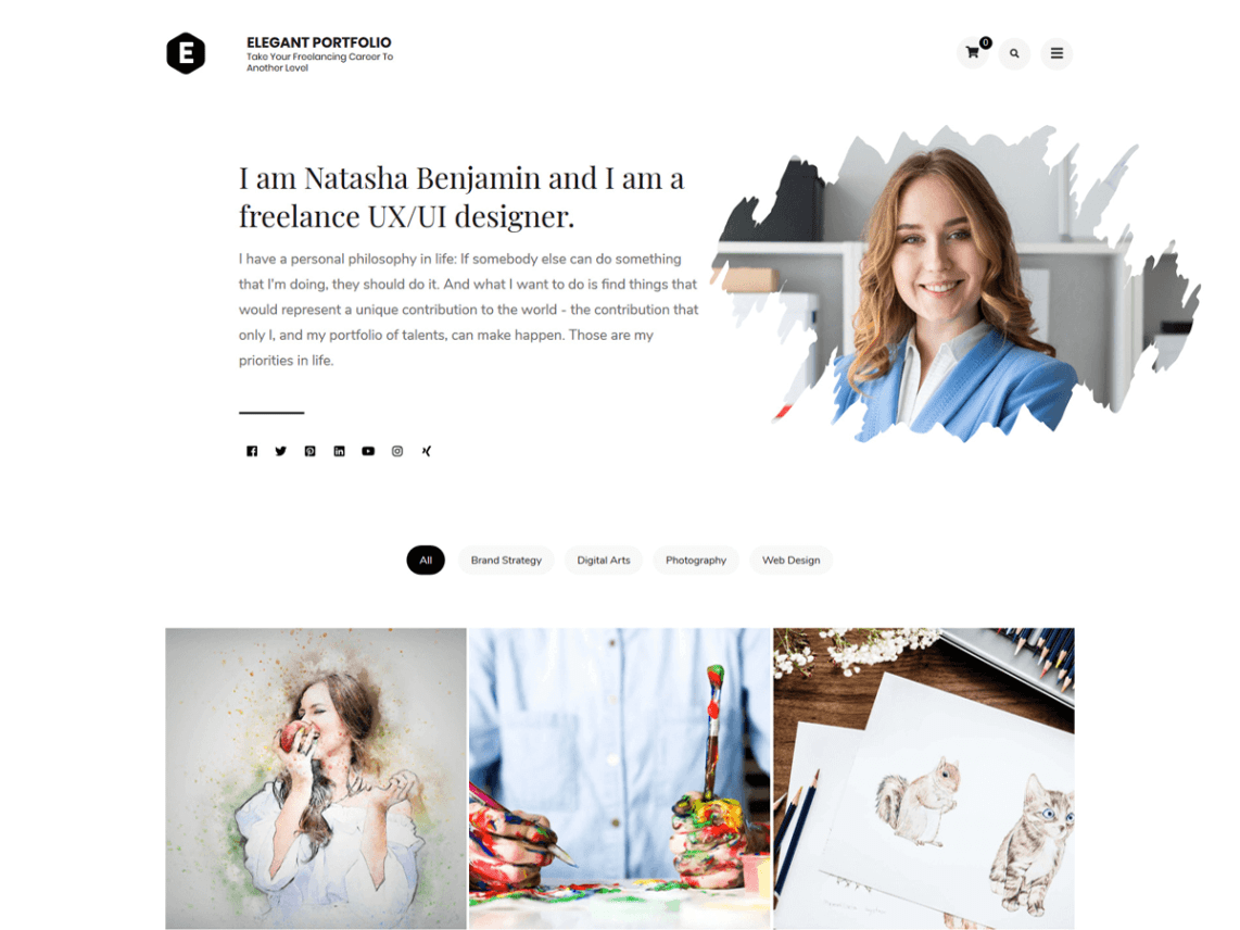 ElegantPortfolio-free-portfolio-WordPress-themes-WPreviewteam
