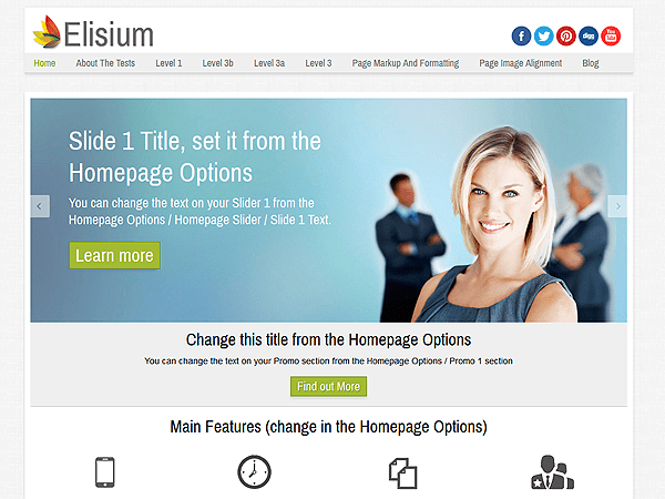 Elisium free wordpress theme