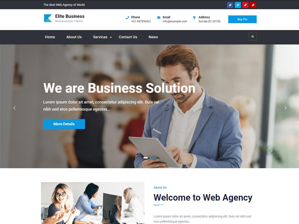 WordPress主题:Elite Business
