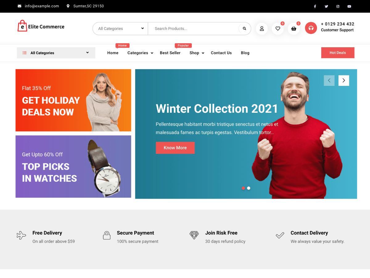 Elite Commerce WordPress Theme