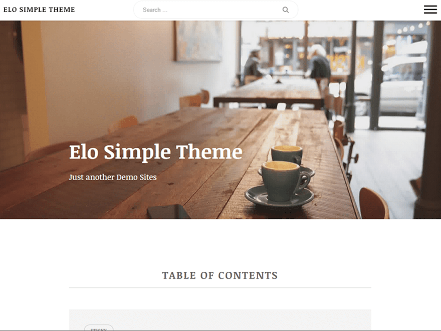Elo free wordpress theme