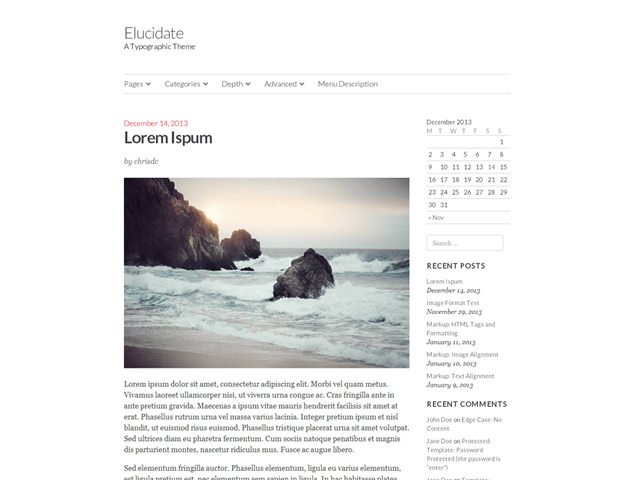 Elucidate free wordpress theme