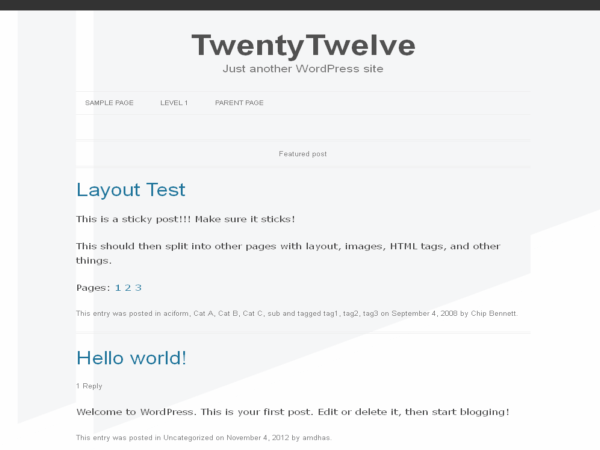 Embed free wordpress theme