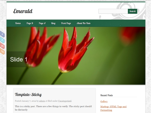 Emerald free wordpress theme