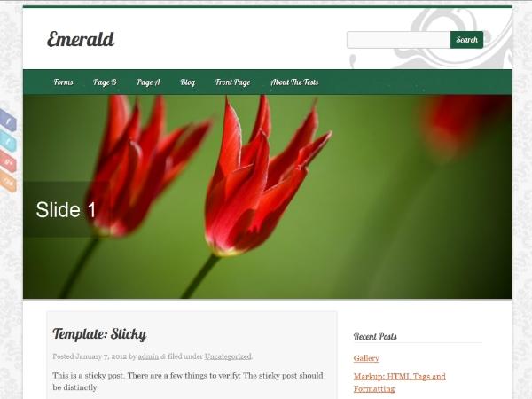 Emerald theme wordpress gratuit
