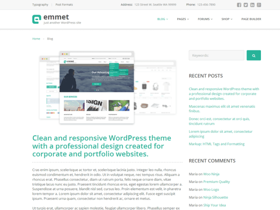 Emmet Lite wordpress theme